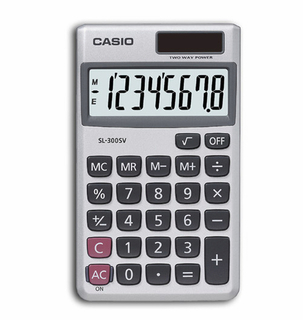 Casio 8-Digit Solar Calculator - SL300