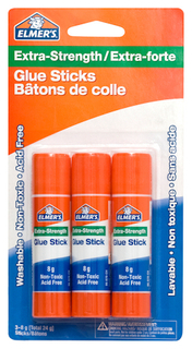 Elmers Glue Stick Xtra Strength 3 x 8g - 60509Q