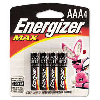 Energizer  AAA4 Alkaline Battery - E92BP4