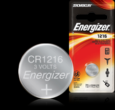 Energizer Button Cell Battery - ECR1216