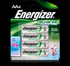 Energizer 4PK AA NIMH Rechargeable Battery - NH15BP4