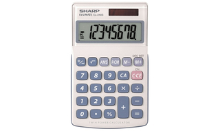 Sharp 8-Digit Basic Calculators with Large Display - EL240SB