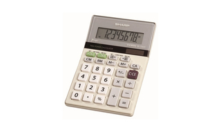 Sharp Twin-Powered Semi-Desktop Calculators with Slant Display - EL330TB