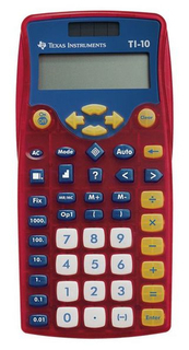 Texas Instruments T.I. 2-Line Elementary Calculators W Large Buttons -10/TKT