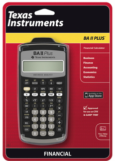 Texas Instruments TI - BA-II PLUS Financial Calc. - BA-II+