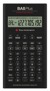 Texas Instruments TI - BA-II PLUS Pro Edition