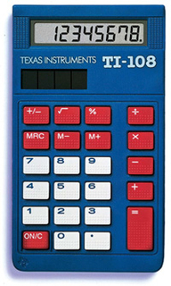 Texas Instruments TI Calculators - TI-108