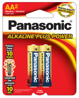 Panasonic AA Alkaline 2 pack Carded - AM3PA2B