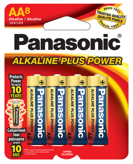 Panasonic AA Alkaline 8 Pack - Carded - AM3PA8B