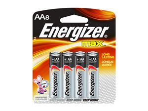 Energizer AA8 Alkaline Battery - E91BP8 Product Image