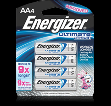 Energizer AA4 Lithium Battery -L91BP4 Product Image
