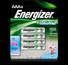 Energizer 4PK AAA NIMH Rechargeable Battery - NH12BP4 Product Image