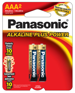 Panasonic AAA Alkaline 2 Pack - Carded - AM4PA2B Product Image