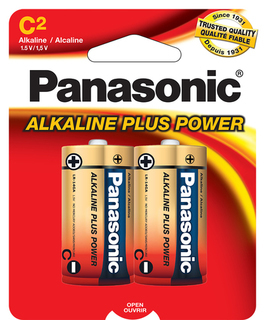 Panasonic C Alkaline 2 Pack - Carded - AM2PA2B Product Image