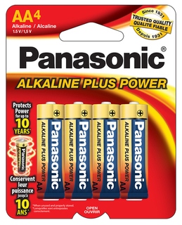 Panasonic AA Alkaline 4 Pack Carded - AM3PA4B Product Image