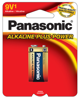 Panasonic 9 Volt 1 pack Alkaline 6AM6PA1B Product Image